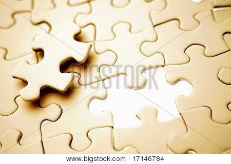 Missing piece of jigsaw puzzle