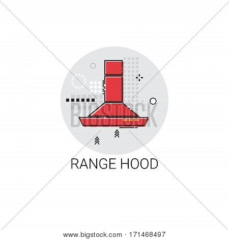 Range Hood Cooking Utensils Kitchen Equipment Appliances Icon Vector Illustration