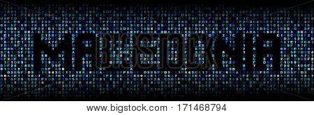 Macedonia text on hex code illustration