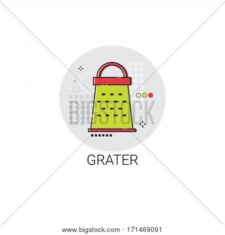 Grater Cooking Utensils Kitchen Equipment Appliances Icon Vector Illustration