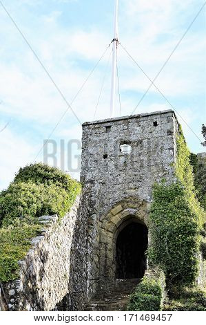 English Medieval Castle Entrance Stairs, Great Britain