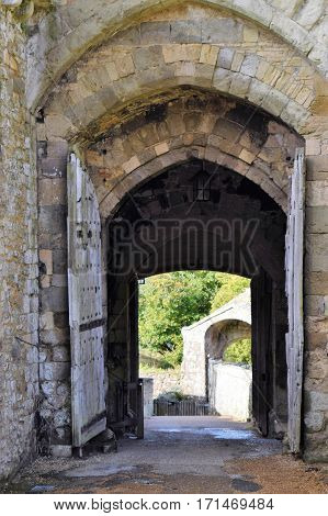 Medieval English Castle Main Gate, Great Britain