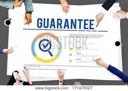 Guarantee Assurance Warranty Standard Concept