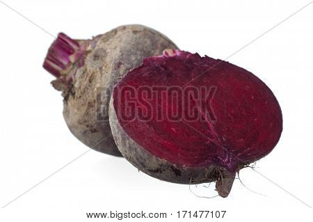 Close-up image of red beats studio isolated on white background