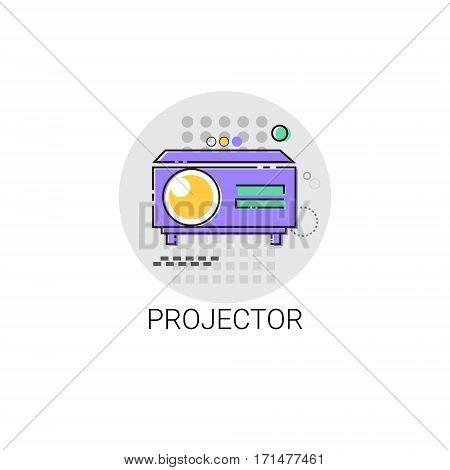 Movie Projector Film Cinema Icon Vector Illustration