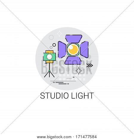 Studio Light Projector Photo Making Icon Vector Illustration