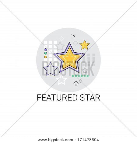 Featured Star Favorite Best Mark Icon Vector Illustration