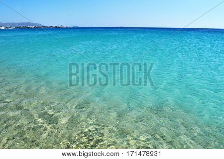 turquoise sea at Saint Prokopios beach Naxos Greece
