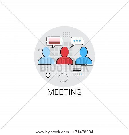 Business Team Meeting Brainstorm Icon Vector Illustration