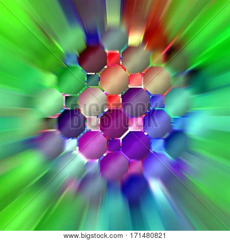 Abstract coloring background of the nauseating headache  gradient with visual wave,mosaic,blurred  and lighting effects