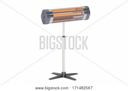 Halogen or infrared heater 3D rendering isolated on white background
