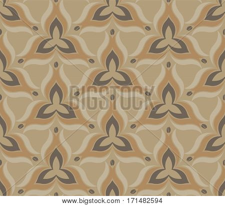 Soft colors geometric floral seamless pattern with repeating texture