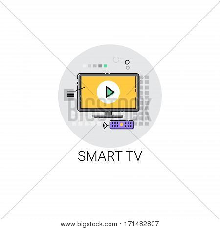 Smart TV Modern Television Set Icon Vector Illustration