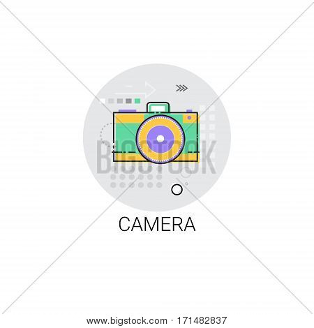 Photo Camera Photograph Icon Sketch Vector Illustration