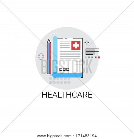 Healthcare Hospital Doctors Clinic Medical Treatment Icon Vector Illustration