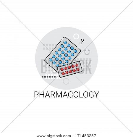 Pharmacology Hospital Doctors Clinic Medical Treatment Icon Vector Illustration