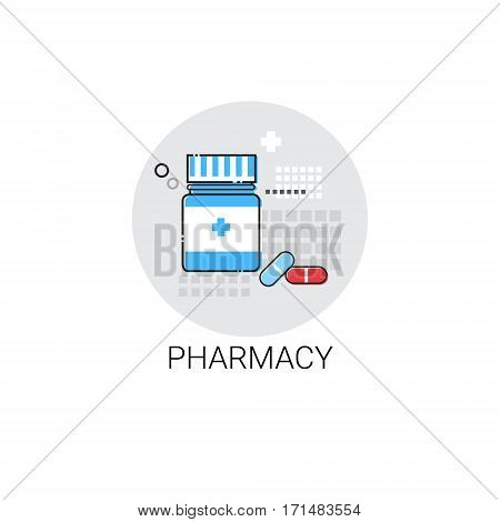 Pharmacy Hospital Doctors Clinic Medical Treatment Icon Vector Illustration