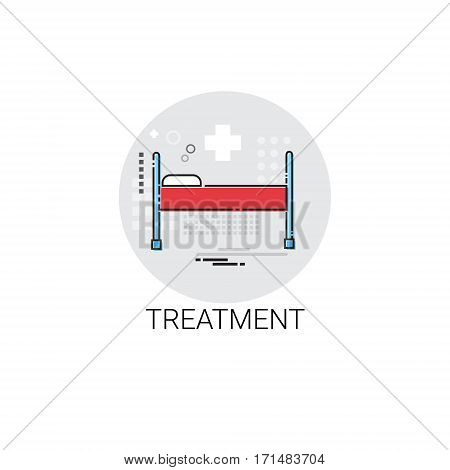 Treatment Hospital Doctors Clinic Medical Icon Vector Illustration