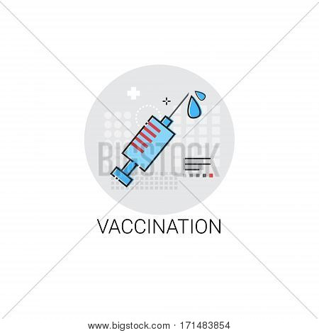Vaccination Hospital Doctors Clinic Medical Treatment Icon Vector Illustration