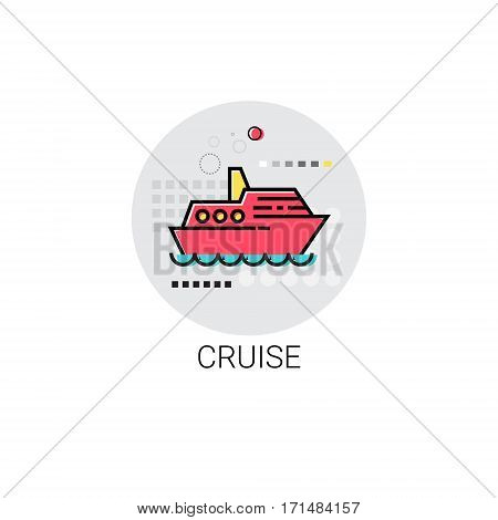 Cruise Sea Travel Vacation Icon Vector Illustration