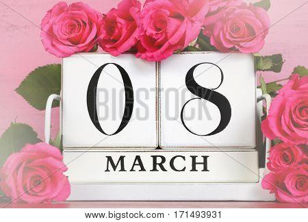 International Womens Day Calendar Date For March 8,