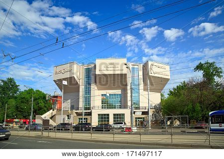 MOSCOW/ RUSSIA - MAY 17. The Rusakov Workers' Club designed by Konstantin Melnikov 1929 - a notable example of constructivist architecture on May 17, 2014. Moscow, Russia.