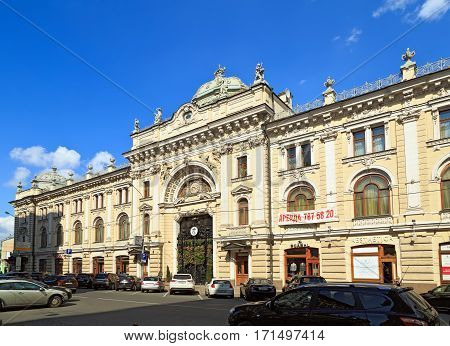 MOSCOW/ RUSSIA - JULY 18. Old bathhouse Sandunovskie Baths (Sanduny) first opened in 1808 on July 18, 2014. Moscow, Russia.