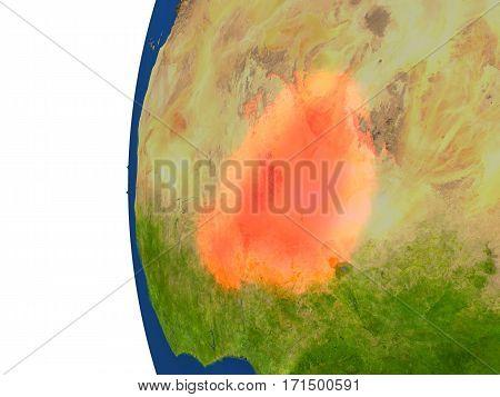 Niger On Globe