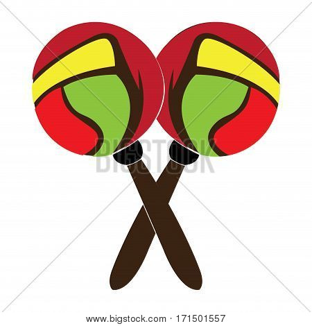 Isolated pair of maracas on a white background, Vector illustration