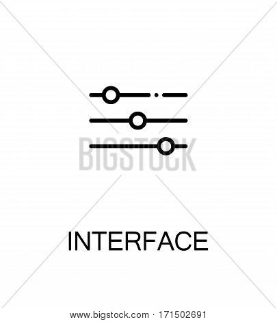 Interface icon. Single high quality outline symbol for web design or mobile app. Thin line sign for design logo. Black outline pictogram on white background