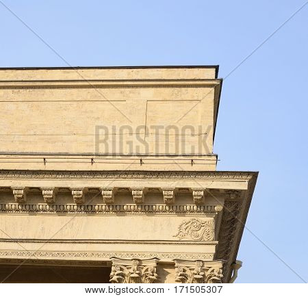 Detail of the Kazan Cathedral in St.Petersburg Russia.