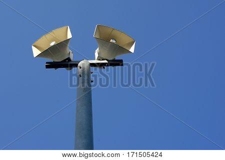 Horn Speaker On Pole