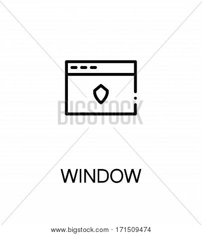 Internet window icon. Single high quality outline symbol for web design or mobile app. Thin line sign for design logo. Black outline pictogram on white background
