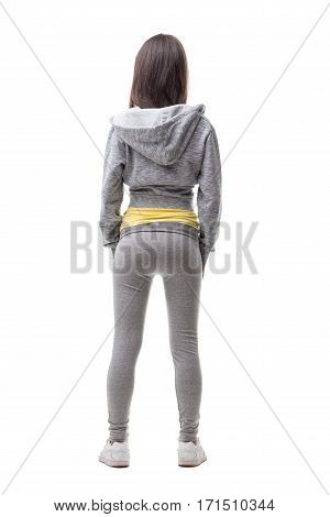 Young Woman On Tracksuit Seen From Behind