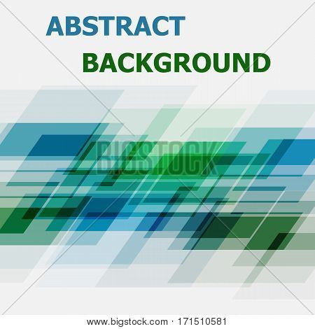 Abstract blue and green geometric overlapping background, stock vector