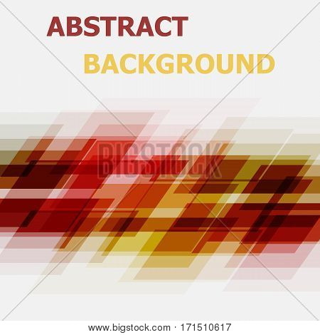 Abstract red and yellow geometric overlapping background, stock vector