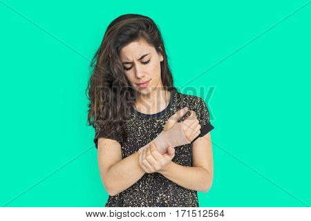 Woman Female Girl Attractive Pretty Worry Concept