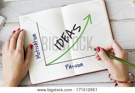 Enjoy Success Growth Graph Development