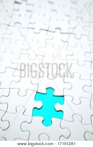 Hole in jigsaw puzzle