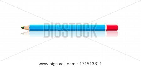 Multicolor wooden pencil in one or rainbow color pencil isolated on white background Save clipping path.