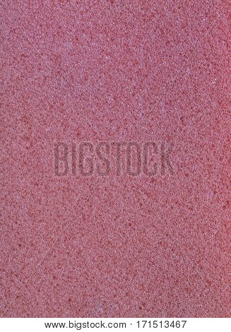 closeup of pink pure sponge texture background