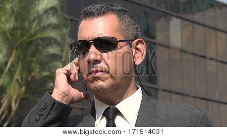 Kgb Or Fbi Agent Wearing Suit and Sunglasses