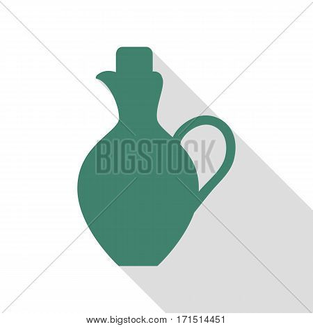 Amphora sign illustration. Veridian icon with flat style shadow path.