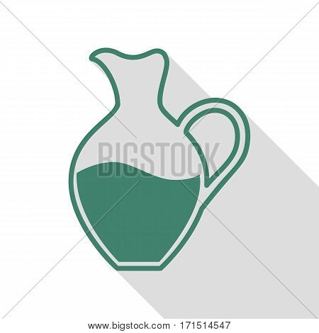 Amphora sign. Veridian icon with flat style shadow path.