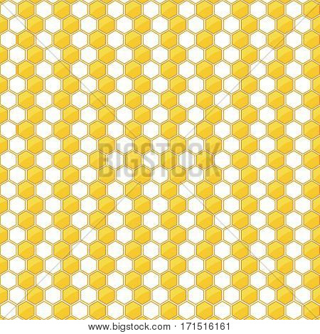 Yellow and White Honeycomb background. Honeycomb background.