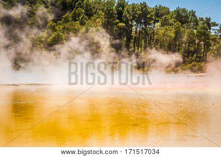 Wai-o-tapu geothermal area, Rotorua, New Zealand