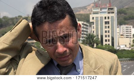 Confused Business Man, Photo of Politician, Lawyer or Attorney