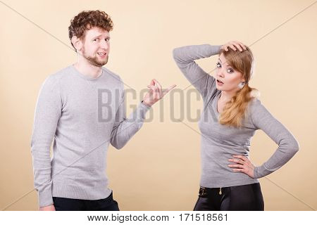 Young Emotional Couple Arguing.