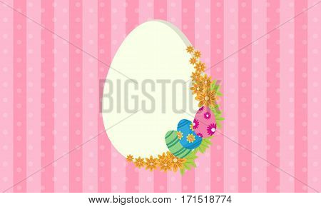 Easter egg frame vector illustration collection stock
