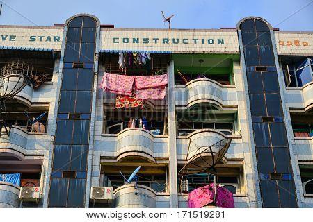 Old Buildings In Yangon, Myanmar